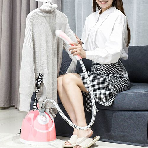 Multi-Purpose Garment Steamer OR Home Sanitiser with Built-in Iron Board (Size 29x26.5x28 Cm) - Pink