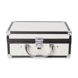 Briefcase Design Double Layer Jewellery Box with Inside Mirror and Two Extendable Trays (Size 24.5X1