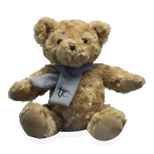 Christmas Special- Ted, Traditional Bear with TJC Knitted Scarf - 25cm