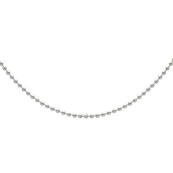 Sterling Silver Ball Bead Chain (Size 30), Silver wt 5.30 Gms