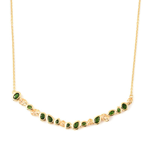 RACHEL GALLEY Misto Collection - Russian Diopside Necklace (Size 20) in Yellow Gold Overlay Sterling