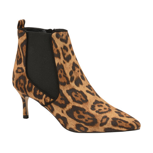 Ravel Leopard Cheviot Stiletto Heel Ankle Boots (Size 6)
