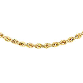 9K Yellow Gold Rope Chain (Size 20), Gold wt 2.80 Gms