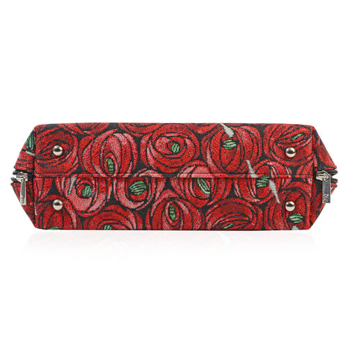 SIGNARE-Tapestry Collection - Rose & Pear Top-Handle Shoulder Bag with Removable Strap ( 36 x 23 x 12.5 Cms)