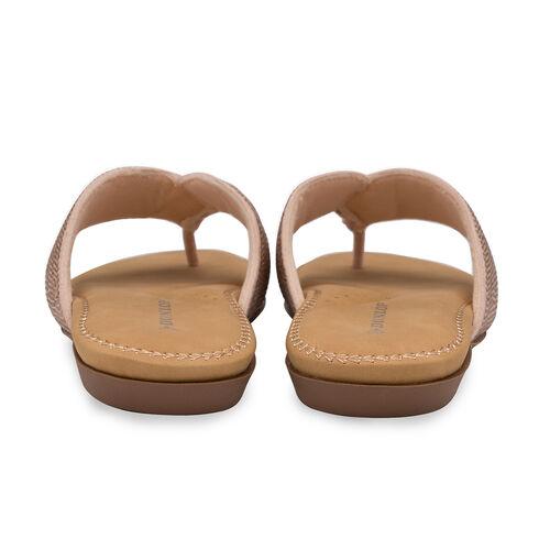 Dunlop Embellished Toe Post Slip on Flat Sandals (Size 5) - Rose Gold