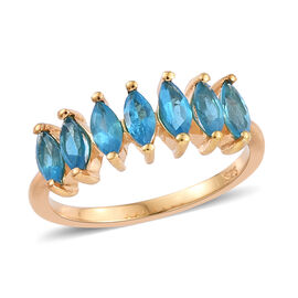 Malgache Neon Apatite (Mrq) Ring in 14K Gold Overlay Sterling Silver 1.000 Ct.