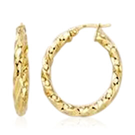 Twisted Hoop Earrings in 9K Yellow Gold