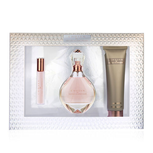 Nicole Scherzinger: Chosen Gift Set (Incl. EDP - 100ml, Shower Gel - 100ml & Purse Spray -15ml)