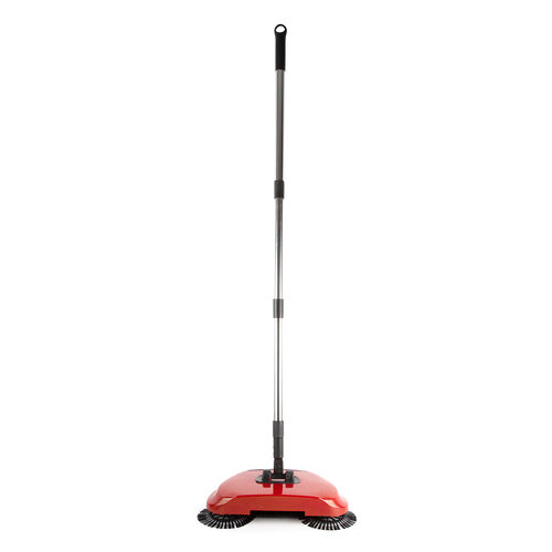 360 Degree Steering Sweeping Machine with Adjustable High-Strength Stainless Steel Tube in Red Colou