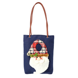 Christmas Collection - 3D Santa Tote Bag - Size 26x32cm - Navy