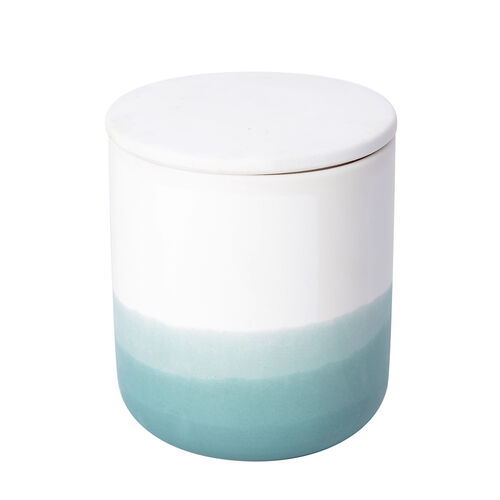 Soy Wax Aromatic Candle in Porcelain Container and Gift Box (Burning Time - 35 Hours) -Parsley Basil