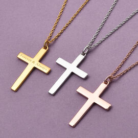 Personalised Engraved Cross Pendant in Silver
