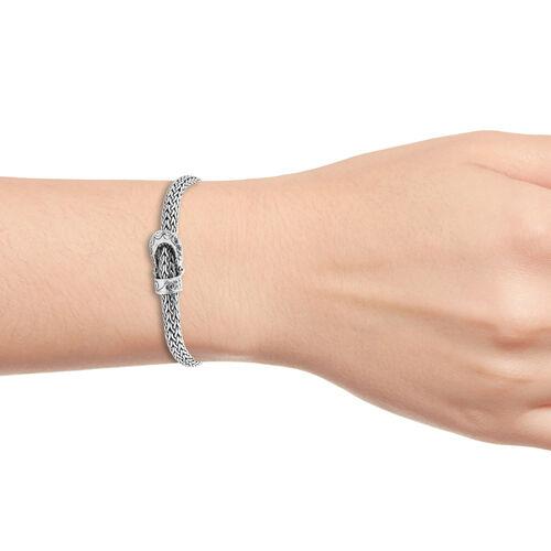 Royal Bali Collection Sterling Silver Tulang Naga Bracelet (Size 7), Silver wt 40.00 Gms.
