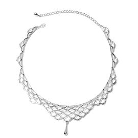 LucyQ Lace Victoria Design Inspired Necklace in Rhodium Plated Silver 16 with 4 inch Extender