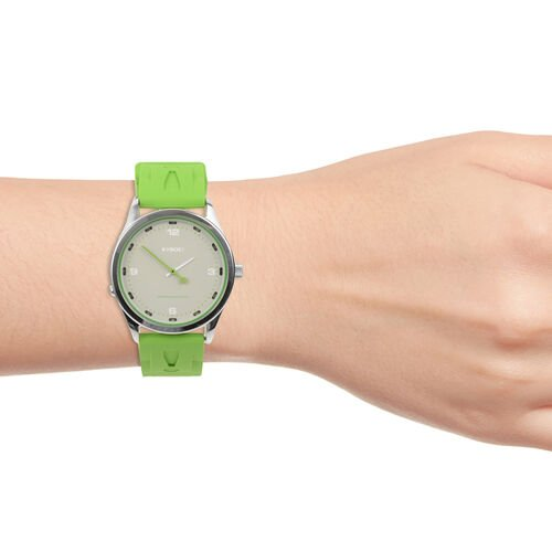 KYBOE Evolve Japanese Movement 100M Water Resistant Greenery LED Watch in Stainless Steel and Green Strap