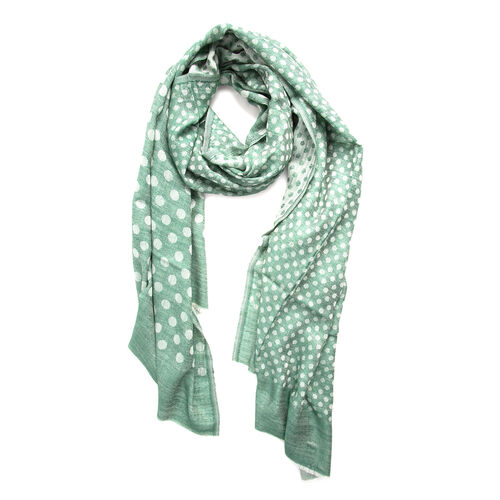 100% Cashmere Wool Green Colour Ultra Soft Scarf (Size 200X70 Cm)