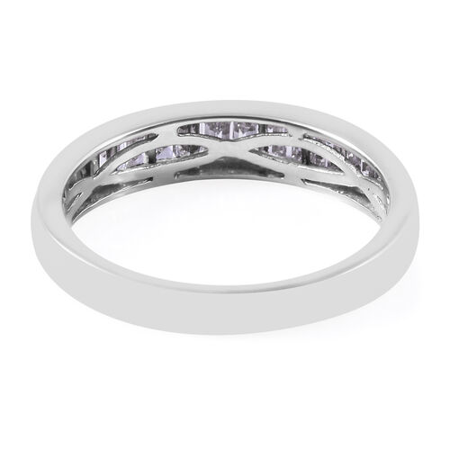 RHAPSODY 950 Platinum IGI Certified Diamond (Bgt) (VS/E-F) Half Eternity Band Ring 0.50 Ct.