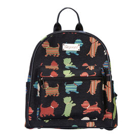 SIGNARE  - Tapestry Collection -Playful Puppy Casual Backpack             (26x28x14 cms)