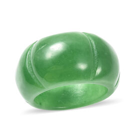 Green Jade Carved Ring 42.50 Ct.