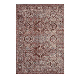 Premium Collection - Persian Style Jacquard Woven Cotton Area Rug with Multi Symmetrical Pattern (Si
