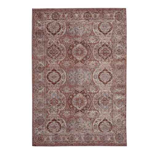 Premium Collection - Persian Style Jacquard Woven Cotton Area Rug with Multi Symmetrical Pattern (Size 140x200 cm)