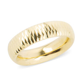 Limited Available- 9K Yellow Gold Diamond Cut Band Ring Gold Wt 2.10 Grams