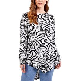 Nova of London - Cream and Black Zebra Oversized Top