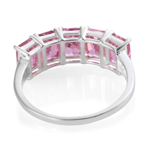 ELANZA Simulated Pink Diamond (Oct) Five Stone Ring in Sterling Silver.