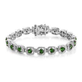 Super Auction- J Francis - Crystal from Swarovski White Crystal (Rnd) Bracelet (Size 7.5) in Platinu