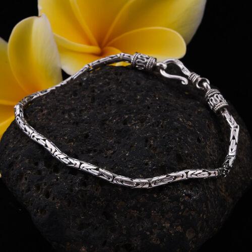 Royal Bali Collection - Sterling Silver Borobudur Bracelet (Size 7.5), Silver wt. 9.28 Gms