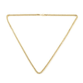 Close Out Deal-  9K Yellow Gold Spiga Necklace (Size - 20), Gold Wt. 9.00  Gms