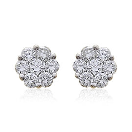 ILIANA 18K Yellow Gold IGI Certified Diamond (Rnd) (SI/G-H) Stud Earrings (with Screw Back) 0.250 Ct.