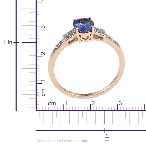 9K Y Gold Tanzanite (Ovl 1.00 Ct), Natural Cambodian Zircon Ring 1.150 Ct.