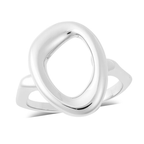 LucyQ Fluid Design Ring in Rhodium Plated Sterling Silver
