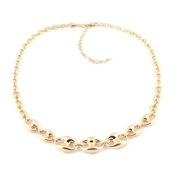 Hatton Garden Close Out- 9K Yellow Gold Mariner Necklace (Size 17 with 3 inch Extender), Gold wt 12.