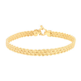 9K Yellow Gold Rope Bracelet (Size 7.5) with Senorita Clasp, Gold wt. 3.38 Gms