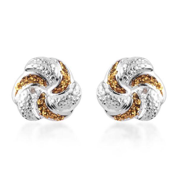 One Time Deal- Deaigner Inspired Diamond Earrings in Sterling Silver