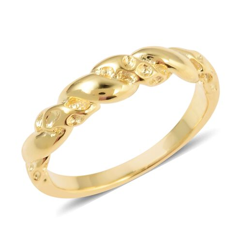 RACHEL GALLEY  Twisted Ring in Gold Plated Sterling Silver