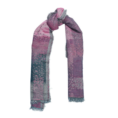 Pink and Grey Colour Scarf (Size 70x180 Cm)