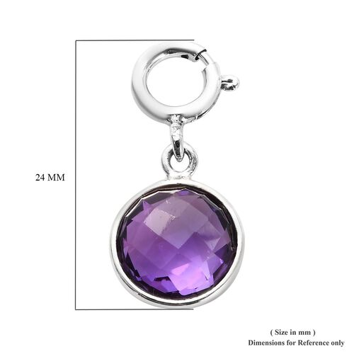 Sundays Child - Amethyst Charm in Sterling Silver 3.35 Ct.