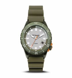 Columbia Pacific Outlander Grey 3-Hand Date Olive Silicone Watch