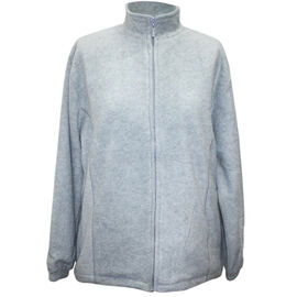 Solid Silver Colour Ladies Fully Lined Fleece Jackets