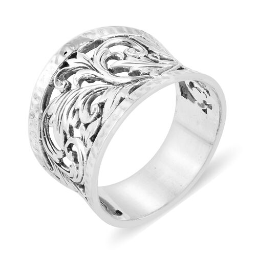Royal Bali Collection- Filigree Ring in Sterling Silver, Silver wt 5.46 Gms.