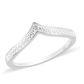 Diamond Wishbone Ring in Sterling Silver