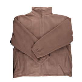 Solid Taupe Ladies Fully Lined Fleece Jackets
