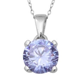 TJC Launch- Colour Change ELANZA Swiss Star Colour Change Blue and Pink Cubic Zirconia (Rnd) Pendant