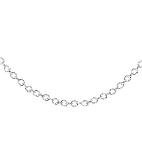 Sterling Silver Rolo Chain (Size 18), Silver wt 3.20 Gms