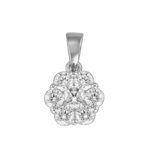 RHAPSODY 950 Platinum IGI Certified Diamond (Rnd) (VS/E-F) Pressure Set Pendant (1.00CT)