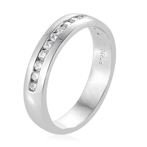 RHAPSODY 950 Platinum IGI Certified Diamond (Rnd) (VS/E-F) Half Eternity Band Ring 0.250 Ct., Platinum wt 5.37 Gms.