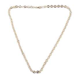 Royal Bali Collection Diamond Cut Rolo Necklace in 9K Gold 18 Inch